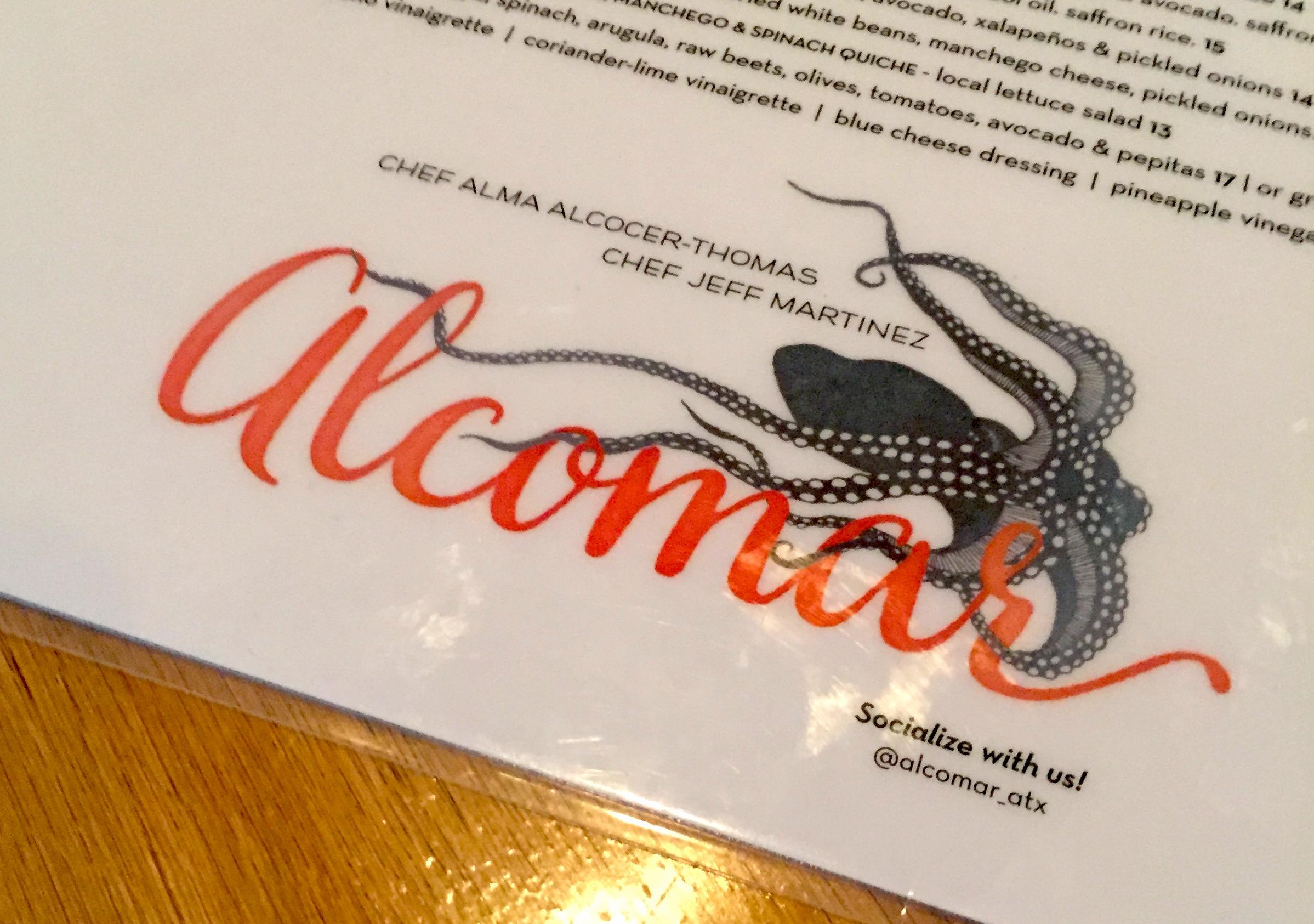Alcomar menu snapshot