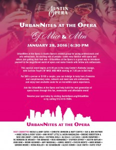 image of Urbanites flyer
