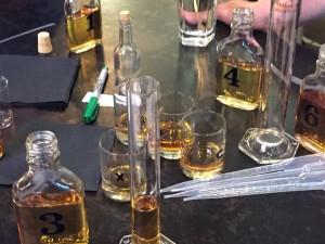 Blending whisky flavors