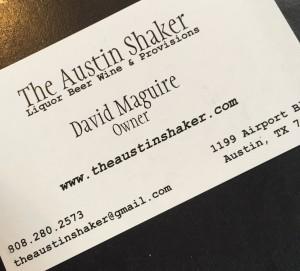The Austin Shaker card